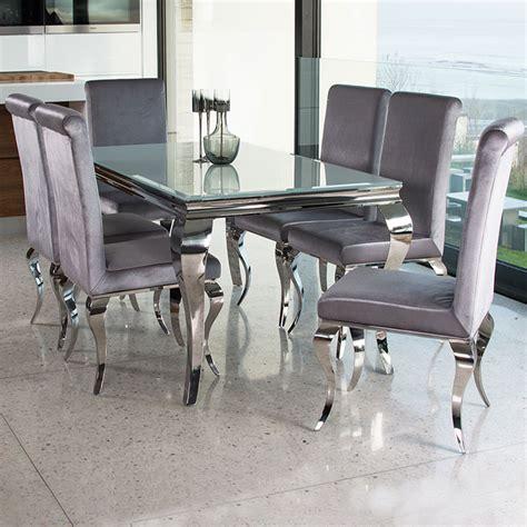 Louis Contemporary Black or White Glass & Chrome 1.6m 5