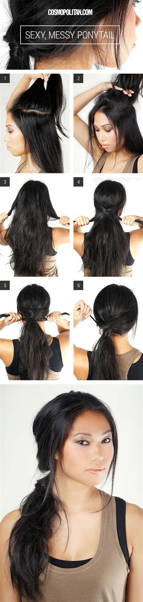 simple and easy hairstyles on jeans messy ponytail how to messy ponytail tutorial