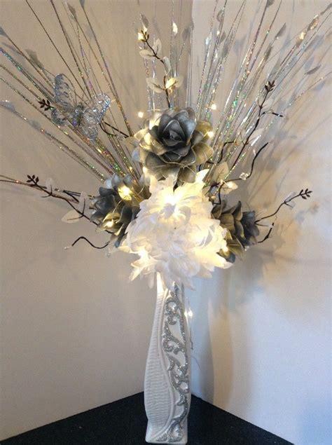 Preserved Flower Black Real Best Choice To Decorate Room artificial silk flower arrangement in silver flowers in white glitter vase ebay