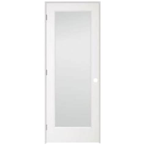 doors interior home depot 36 in x 80 in 1 lite clear glass pine primed white