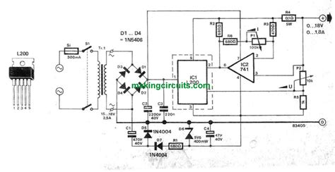 bench power supply circuit simple variable power supply circuit for benchwork