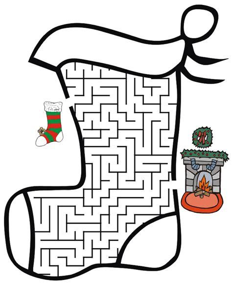 free printable christmas maze games 6 easy christmas mazes for kids