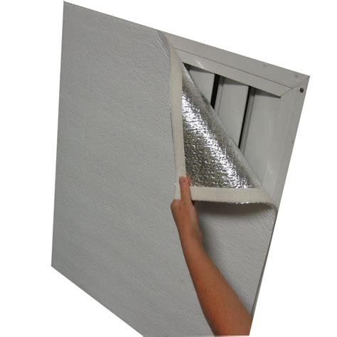 Attic Door Insulation Cover Lowes by Shop Shuttercover Trim To Fit 16 Sq Ft Roll Insulation 48