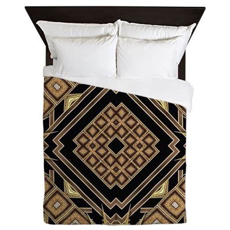 art deco bedding art deco black gold 1 queen duvet by listing store 3177865