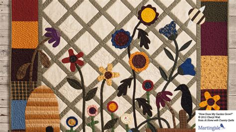 At Home With Country Quilts by Martingale S Quilt Wallpapers Are Back Stitch This The