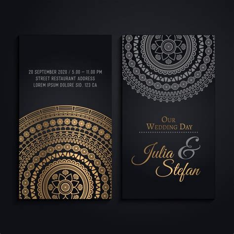 Wedding Invitation Cards Luxury by Wedding Invitation Cards In Luxury Mandala Style Vector
