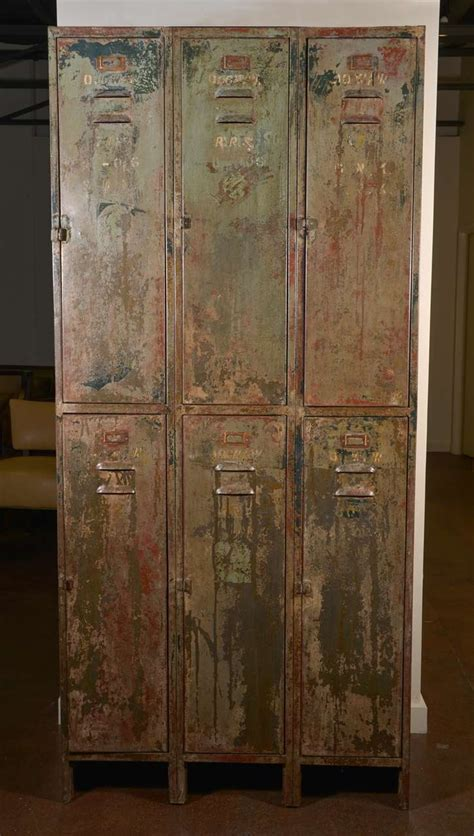 Antique Locker Set in Original Painted Finish at 1stdibs