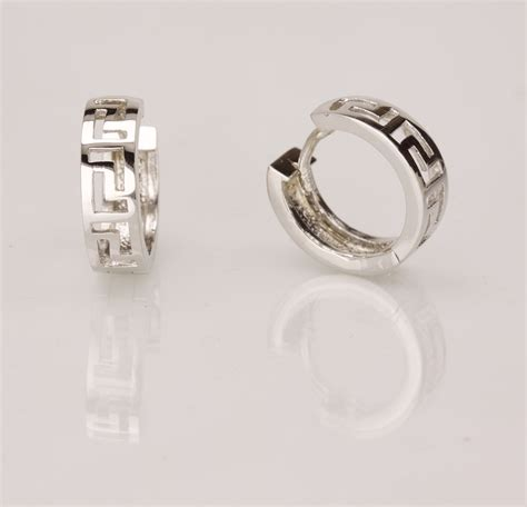 pattern for gold earrings 14k white gold earrings with geometric pattern vardy s