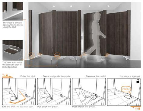 Kitchen Design Concepts foot latch design for public restroom stall doors no