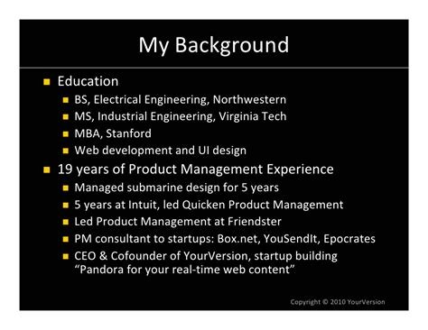 Ms Electrical Engineering Mba Stanford by Best Practices In Product Management For V1 Web Products