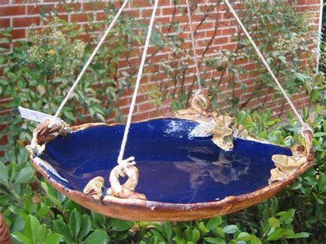 diy bird bath  summer garden decor