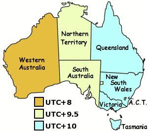 usa time zone vs australia in australia