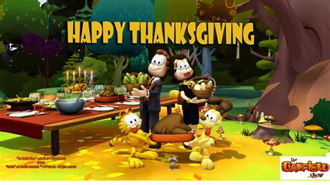 thanksgiving show spread the word happy thanksgiving card 2011 the garfield show the animated series