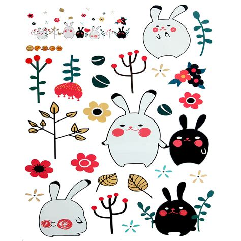 Wallpaper Sticker Pvc Rabbit by Animal Rabbit Wall Sticker Wallpaper Removable Diy Decal