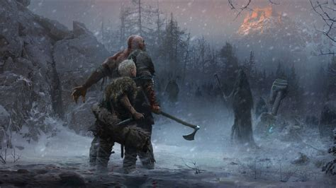 wallpaper laptop god of war wallpaper god of war artwork 2018 4k games 7937