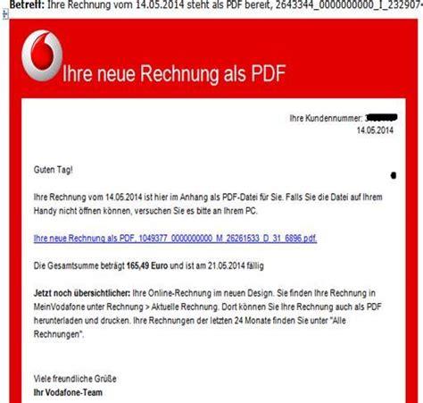Musterbrief Beschwerde Vodafone Achtung Email Vodafone Telekom Rechnung Mit Trojaner
