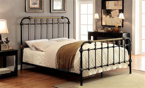 king metal bed riana cal king metal bed from furniture of america