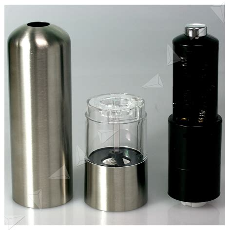 electric salt pepper mill grinder with light 2x stainless steel electric salt pepper mill grinder uk