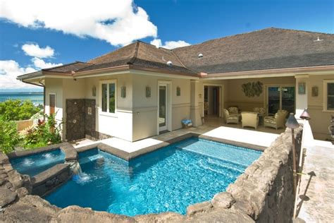 tropical backyards with a pool home designer the bay house tropical pool hawaii by archipelago