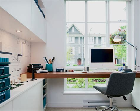 Design Home Office Workspace Dominion Model Home Modern Home Office Vancouver