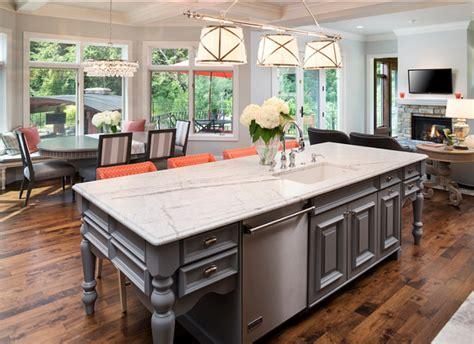 Carrara Marble Kitchen Island by Kitchen Design Ideas Home Bunch Interior Design Ideas