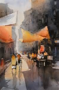 watercolor paintings by indian artist nitin singh