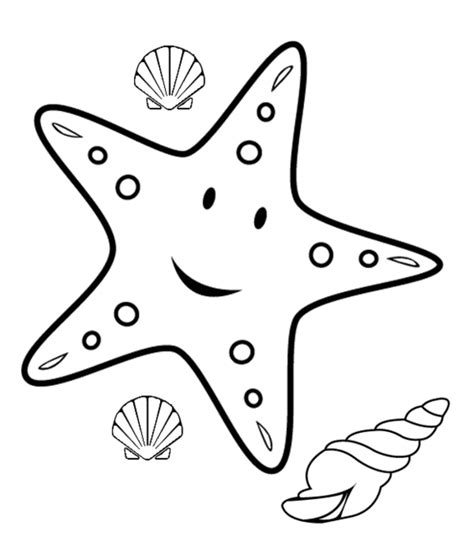 printable starfish coloring pages starfish outline clipart best