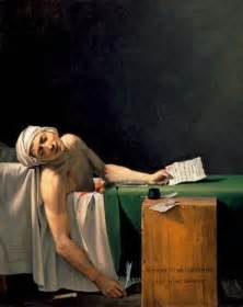 French Revolution Bathtub Painting 18th Century Art David Death Death Of Marat Image