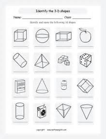 free maths worksheets 2d and 3d shapes 2d and 3d shapes