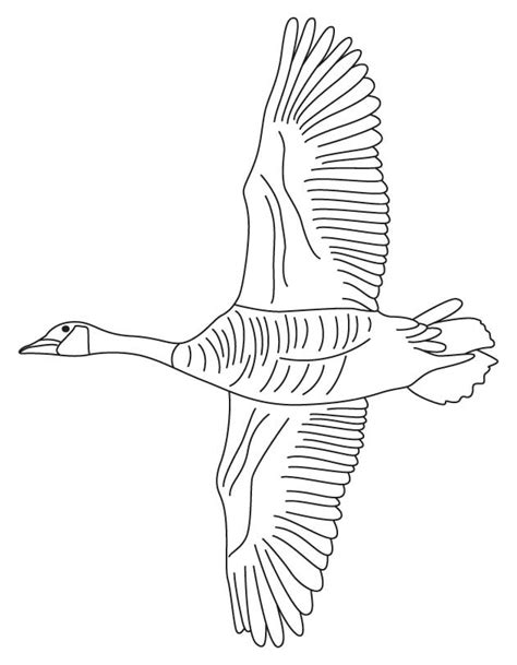 goose and geese coloring pages
