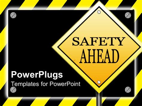 safety sign templates powerpoint template yield while driving on sign