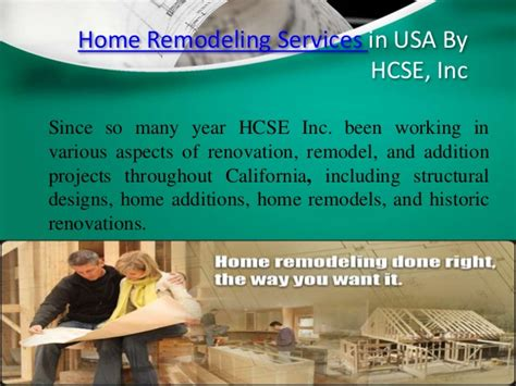hcse inc home remodeling services