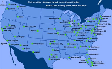 map of with airports airports in usa map
