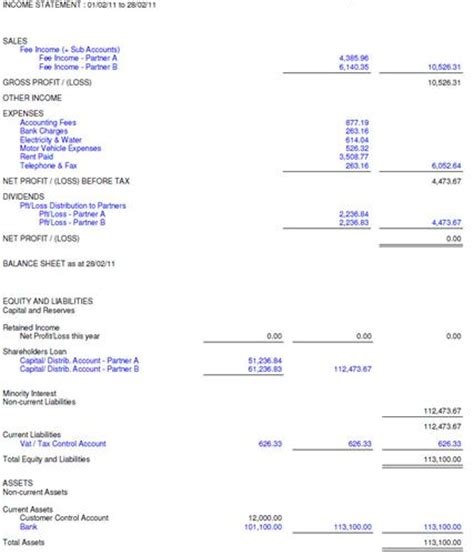 year end financial statement template best photos of year end income statement exle year