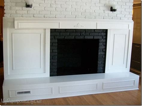 brick fireplace makeover chilton