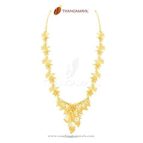 flower design gold necklace 22k gold indian floral necklace design south india jewels