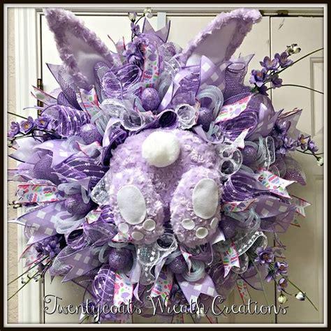 spring wreaths 2017 lavender bunny deco mesh wreath by twentycoats wreath