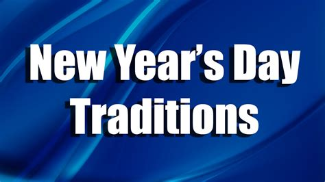 new years day traditions skook news coal region connections new year s day