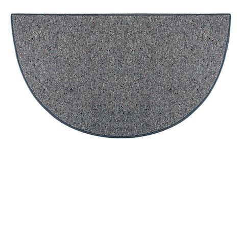 large half circle rugs goods of the woods grey ember half wool hearth rug 36 inch x 72 inch