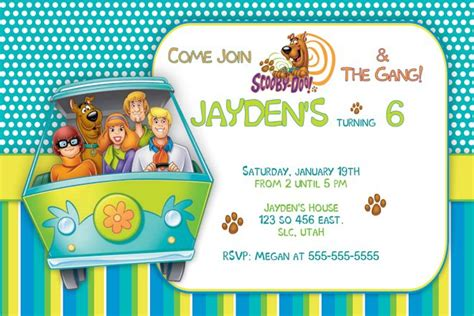 Free Printable Birthday Invitations Scooby Doo | free printable scooby doo birthday party invitations