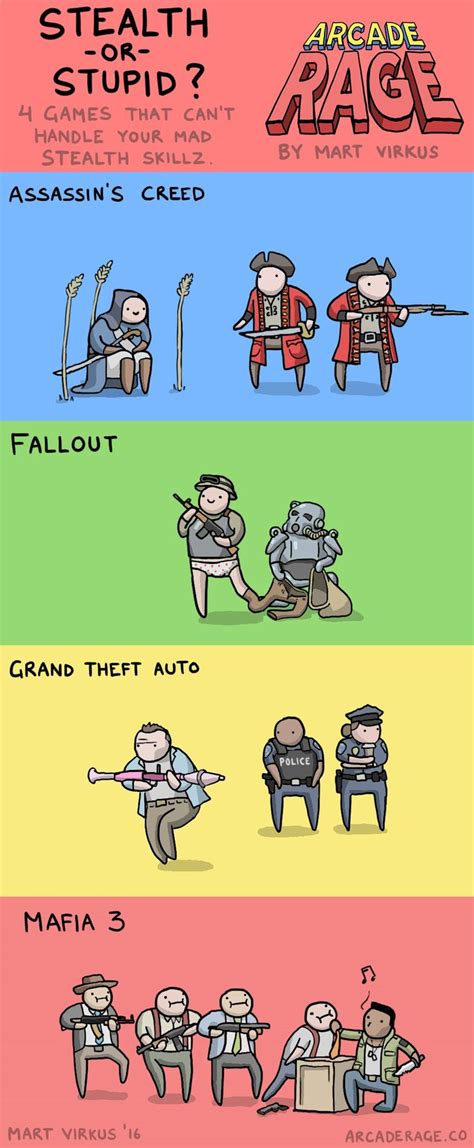 Funny Comic Memes - 4 games with dumb enemy ai risas pinterest enemies
