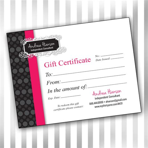 Pure Romance Gift Card - 5 best images of vistaprint create your own logo pure romance gift certificate