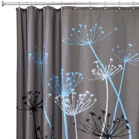 shower curtain 42 x 72 interdesign thistle 72 in x 72 in shower curtain in gray