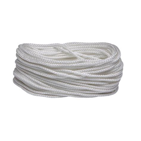 everbilt 3 16 in x 100 ft white braid rope