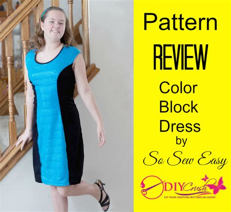 dress pattern review blog pattern review so sew easy color block dress sewing