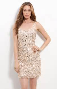 sequin dress pisarro nights sequin sheath dress in gold chagne lyst