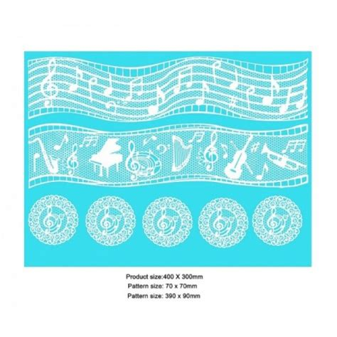 Lace Mats For Cake Decorating by Cake Lace Mat For Cake Decoration Musical Notes