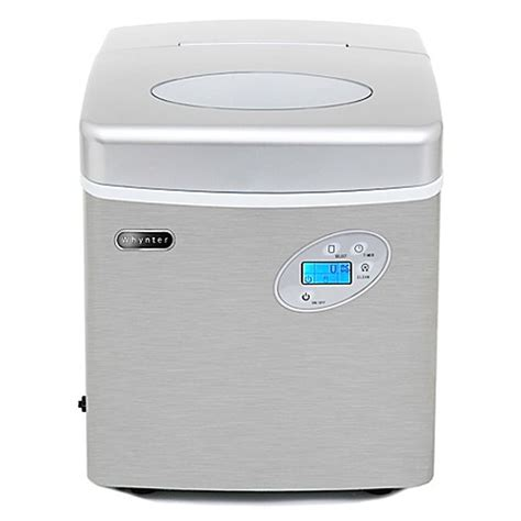 bed bath and beyond ice maker whynter imc 491dc portable ice maker with 49 lb capacity