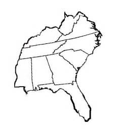 blank map of southeastern united states southeast us blank map