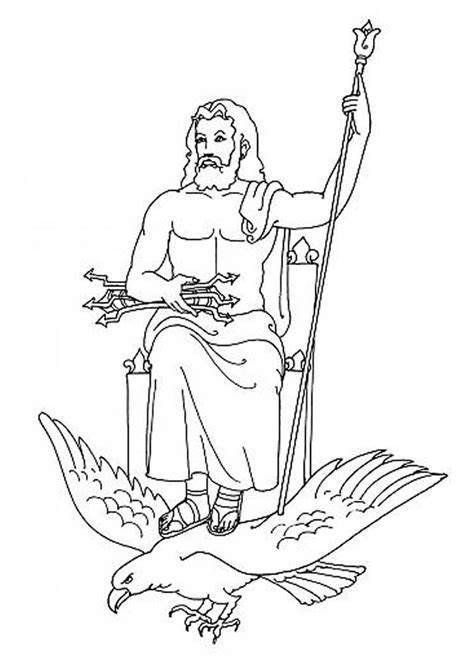 poseidon greek god coloring pages images